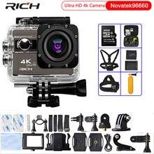 "RICH Action Camera F68R Ultra HD 4K 24fps Novatek 96660 Wifi 2.0""Screen 170 Angles Extreme Waterproof 30m Sports Camera"