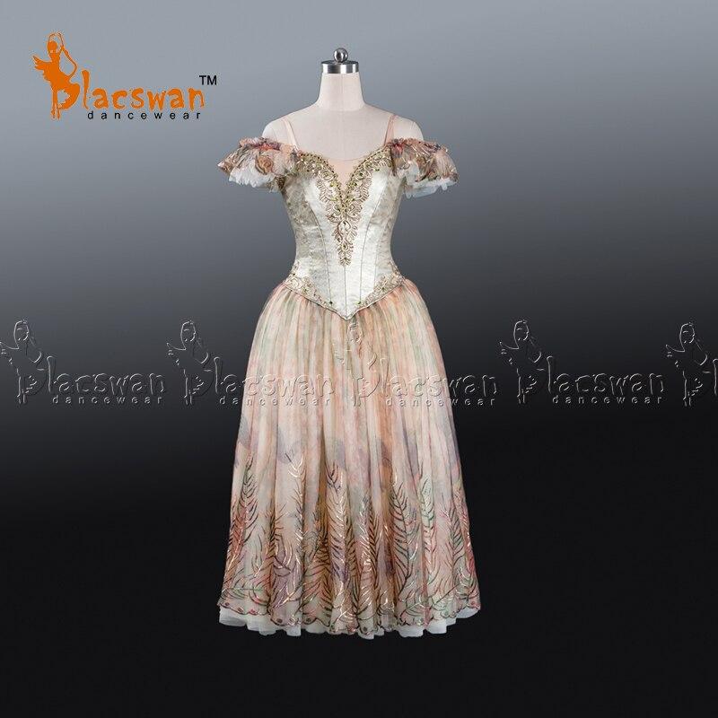 Flower Festival GOLD Romantic tutu Dress Adult nutcracker custom made stage costumes Women Professional Long Ballet