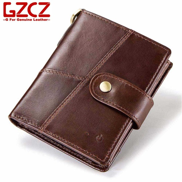 gzcz male smart purse genuine leather slim wallet rfid credit card holder app connected anti theft - Card Holder App