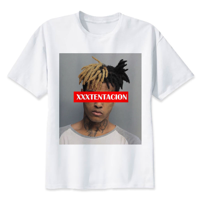 Xxxtentacion T shirt men t shirt fashion t-shirt O Neck white TShirts For man Top Tees M8166 plus size colorblock cowl neck t shirt