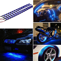 Car Light Blue 4pcs 30CM/15 LED Car Auto Motorcycle Truck Flexible Strip Light Lamp Waterproof 12V For Car outdoor and indoor