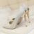 Orange azul blanco plateado rosa de alta calidad de las bombas de tacón alto de metal stilettos de tacón fino zapatos de novia de la boda de satén de lujo