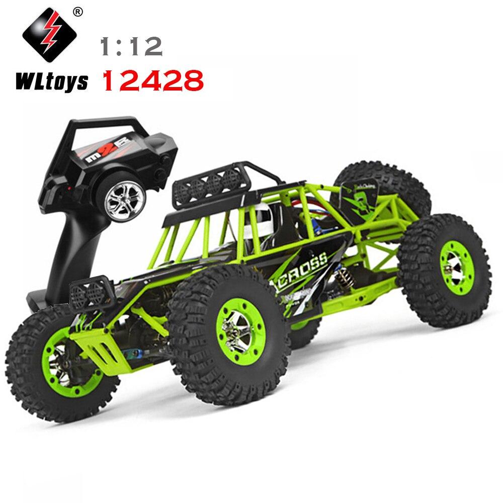 WLtoys 12428 RC автомобилей 1:12 4WD сплава внедорожник через гонки 2,4 ГГц удаленного Управление восхождение грузовик детский подарок игрушечный авт... ...