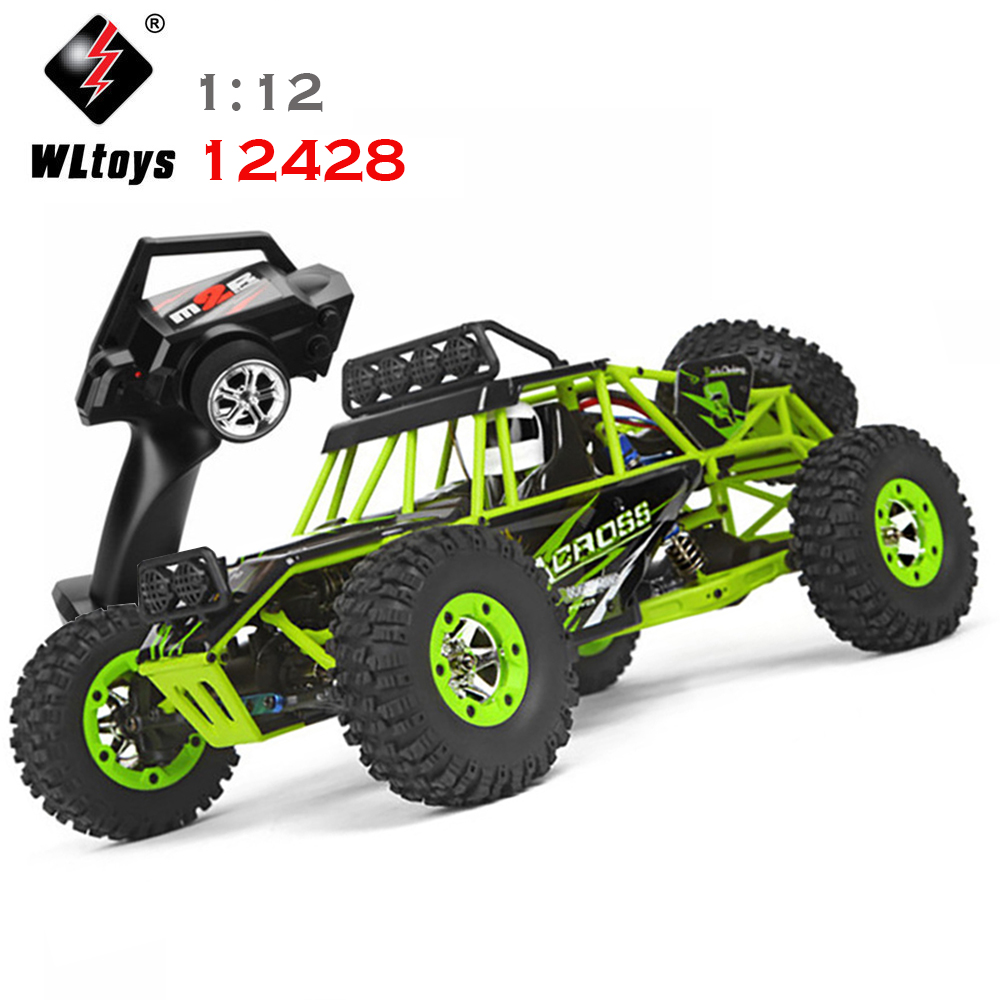 WLtoys 12428 RC Car 1:12 4WD Alloy Off-road Across Racing 2.4GHz Remote Control Climbing Truck Child Gift Toy Car wltoys 12428 12423 1 12 rc car spare parts 12428 0091 12428 0133 front rear diff gear differential gear complete