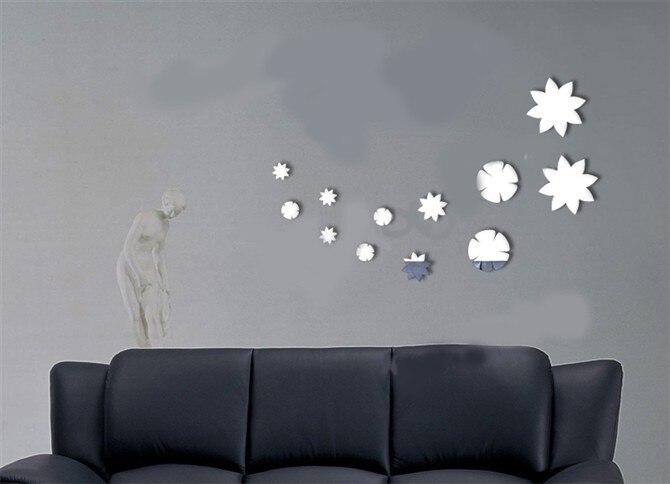 comprar cristal espejo pegatinas de pared de acrlico espejo de pared pegatinas tv decorativa variedad de formas para elegir