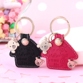 MILESI Sweet and Lovely Happiness Bear House Fashion  Car keychain Nice Pendant Best Valentine's Couple Gift k0056