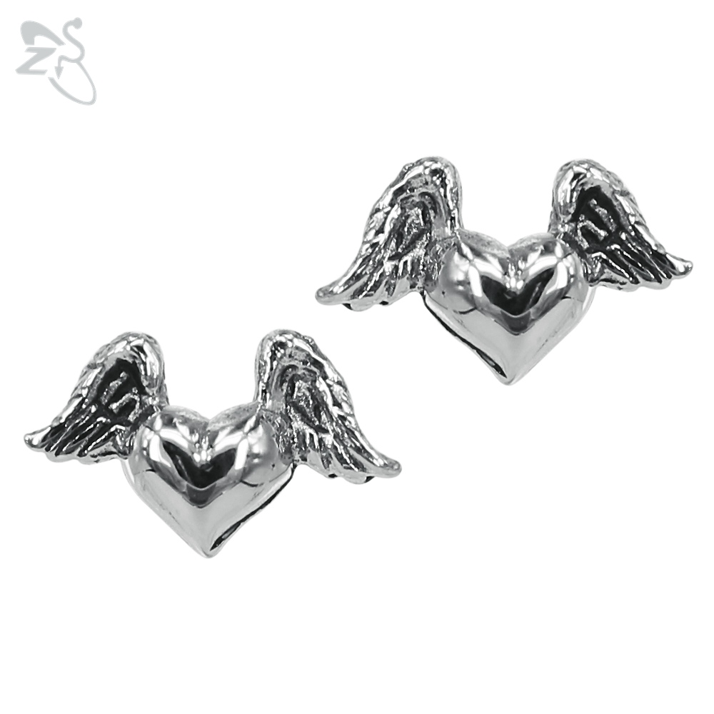 Fly Hearts Earrings Romantic Earings 316L Stainless Steel For Girls Couple Pirced Ear He ...