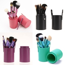 купить Professional Makeup Brushes Set 12 pcs Kit w/ Leather Cup Holder Case Kit Soft Hair дешево