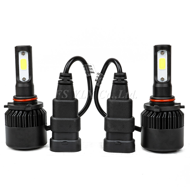 All in One Car Headlights 9005 hb3 COB LED headlight headlamp fog led lights Auto Bulb 72W 9000LM Automobiles Headlamp 6500K nighteye cob h7 led headlight 70w 9000lm all in one car led headlights bulb headlamp fog light 12v auto replacement parts 6000k