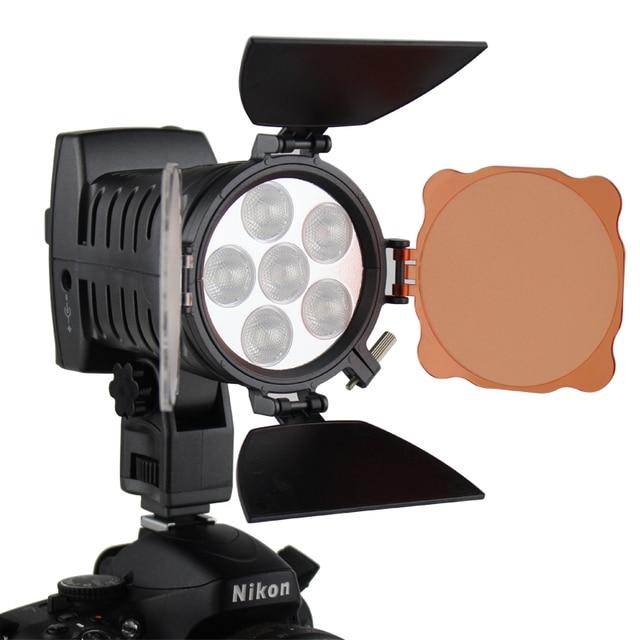 Led Spotlight Video Light Mount On Camera Lighting 3000 6000k For Wedding Slr Dv