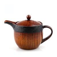 Ev ve Bahçe'ten Çaydanlıklar'de Ahşap demlik çay seti butik tavsiye çay seti mağaza mükemmel ürünler 8*9.3cm