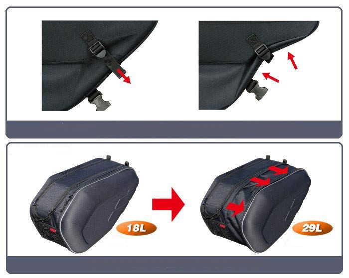 2019 Новый Универсальный fit мотоцикл komine SA212 сумки багажные седельные сумки с дождевик 36-58L K