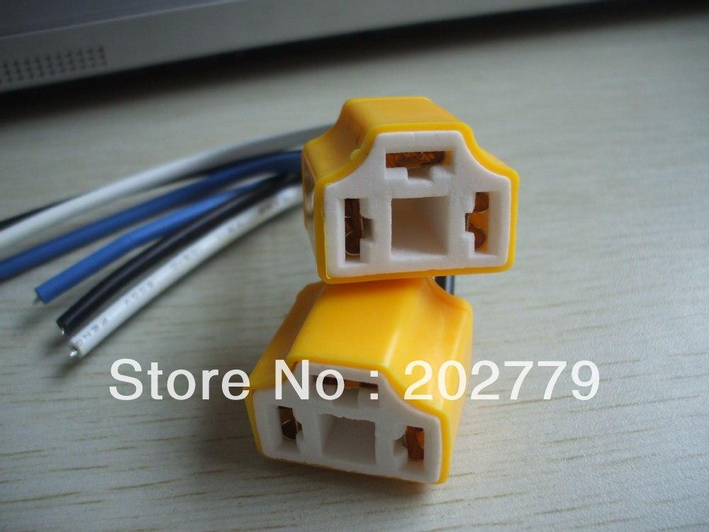 longyue 2pcs H4 ceramic Heat Resistance Headlight Wiring Harness  on