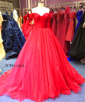 Charming Red Long Prom Dresses Strapless Off The Shoulder Pleat Organza Princess Evening Gowns 2019 High Quality Occasion Dress