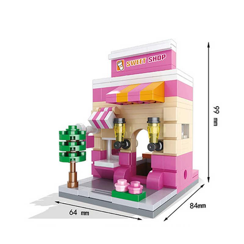 Criativo Educacional Blocos de Construção de Brinquedos Para As Crianças Mini Série Da Rua Da Cidade de Construção Tijolos Pequenos Presentes DIY