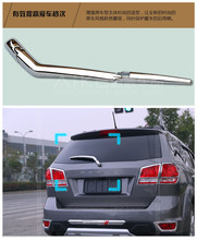 Tracking for Fiat freemont 2011 2014 Chrome rear window wiper nozzle cover trim 2pcs font b