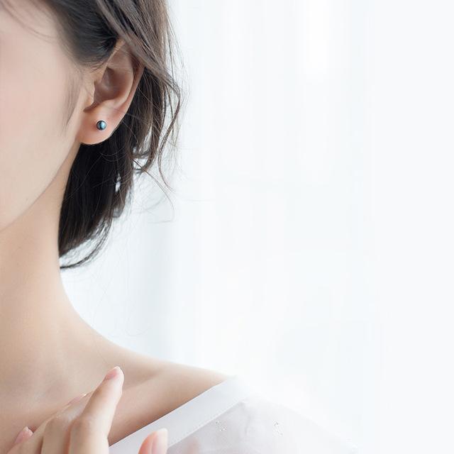 Classic Sterling Silver Pearl Stud Earrings