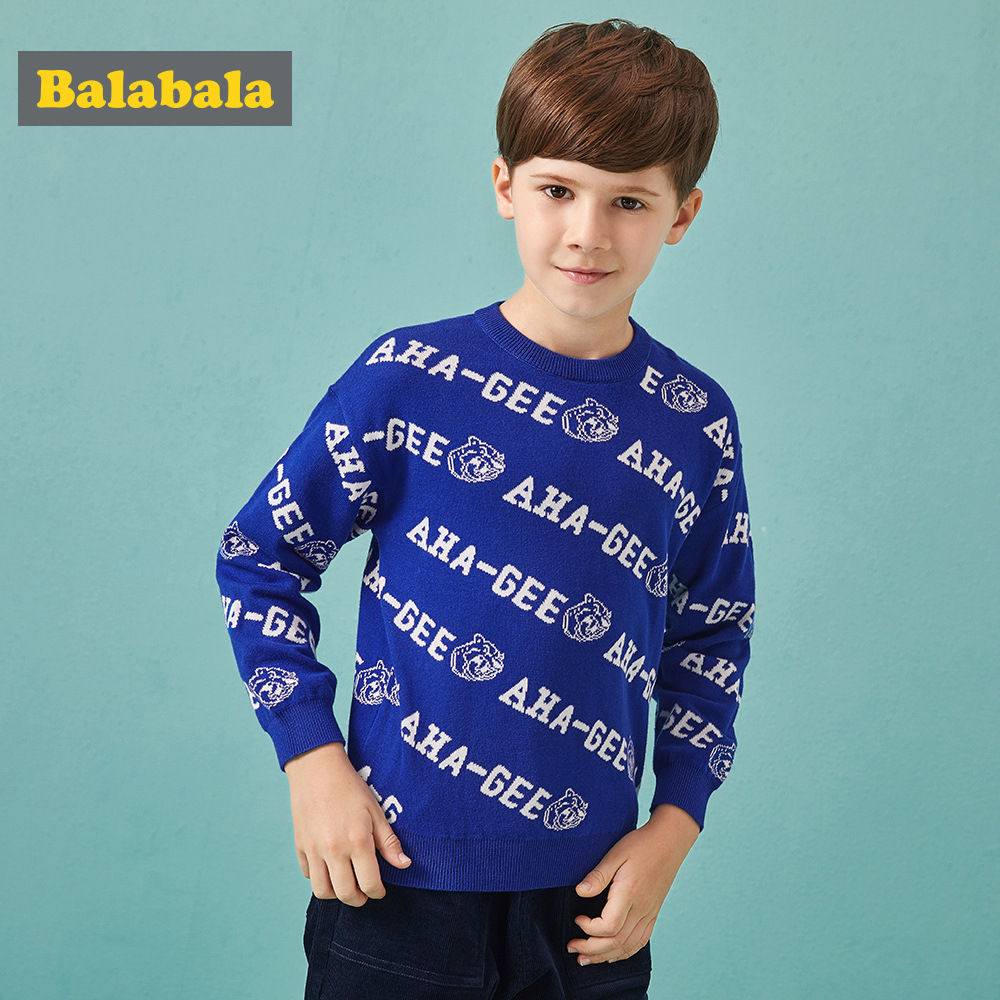 Sweater For Children Boys 2018 Spring Autumn Cotton Child Sweater Loose Letter Soft Sweater Kids Boy New Fashion Clothing