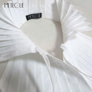 Image 2 - קפלים בסגנון בריטי עם תחרה עד צווארון דוכן אופנה נשים חולצת צווארון מזויף להסרה צווארון שקר לבנה ושחורה 2018