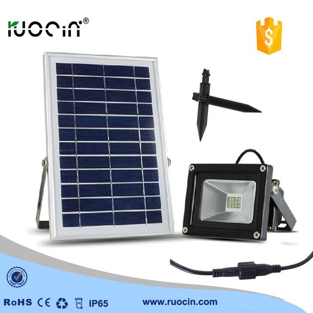 12 LED Outdoor Lighting Solar Power 4000MAH Spotlight Garden Flood Light