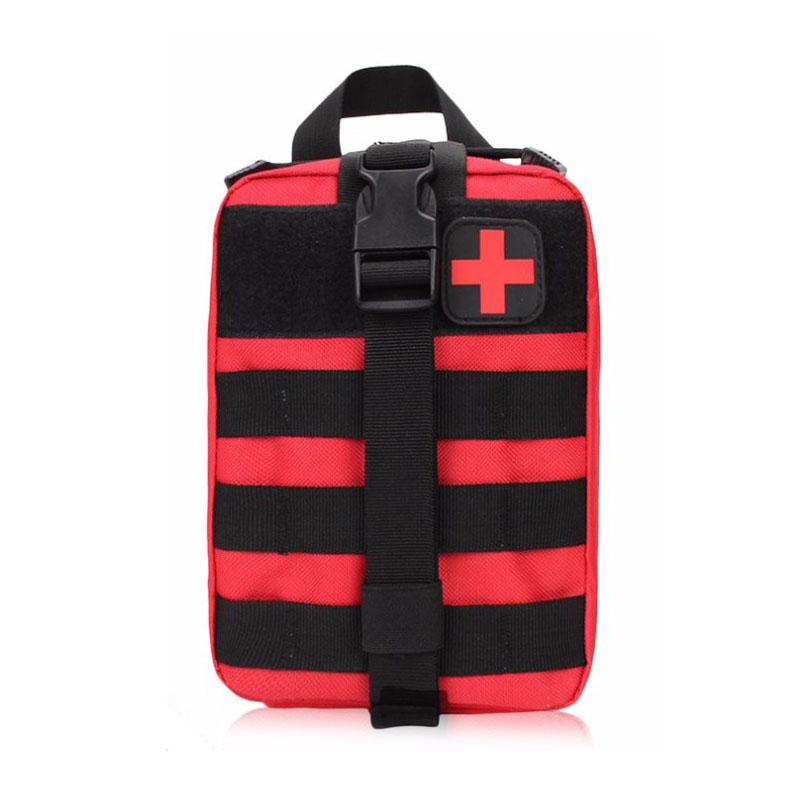 Red Color Tactical Bag Outdoor Travel First Aid Kit Waist Pack Camping Climbing Bag Emergency Survival Kit Bicycle Car Bag
