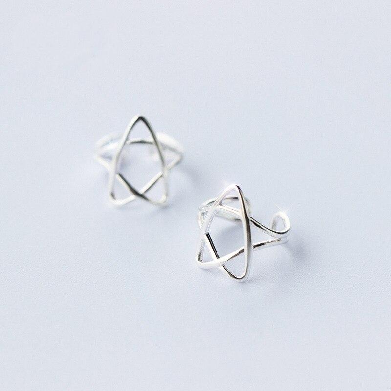 Klug Mloveacc 925 Sterling Silber Hohl Stern Clip Ohrringe Für Frauen Mode S925 Silber Ohrringe Bestellungen Sind Willkommen. Ohrclips