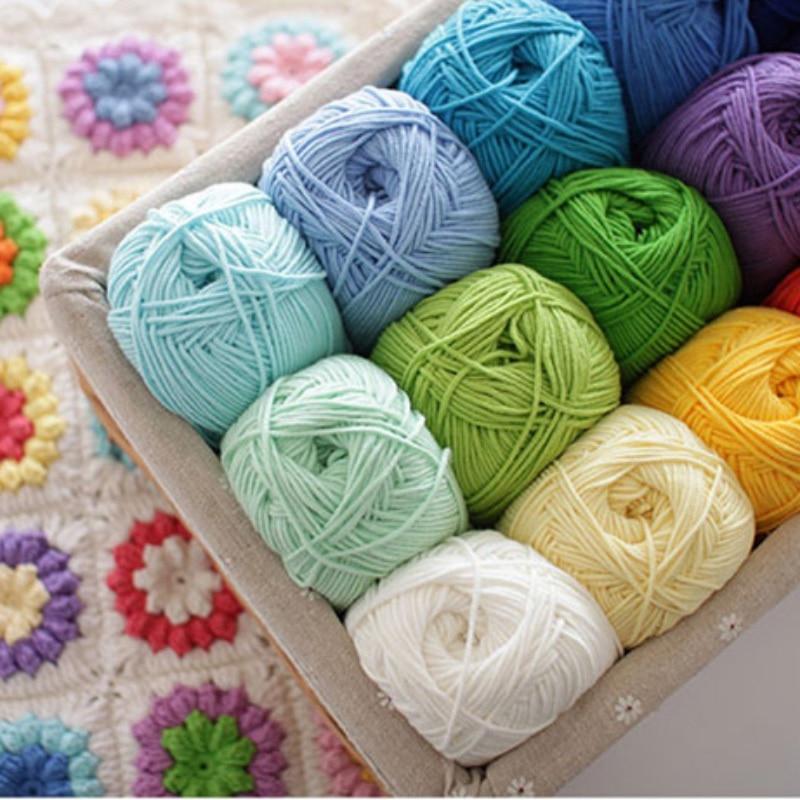 Milk Cotton Yarn Warm Baby Wool Yarn for Knitting Children Hand Knitted Yarn Knit Blanket Crochet Yarn DIY