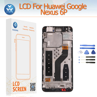 LCD Display Replacement For Huawei Google Nexus 6P LCD Display Touch Didigitzer Sensor Glass Frame Complete