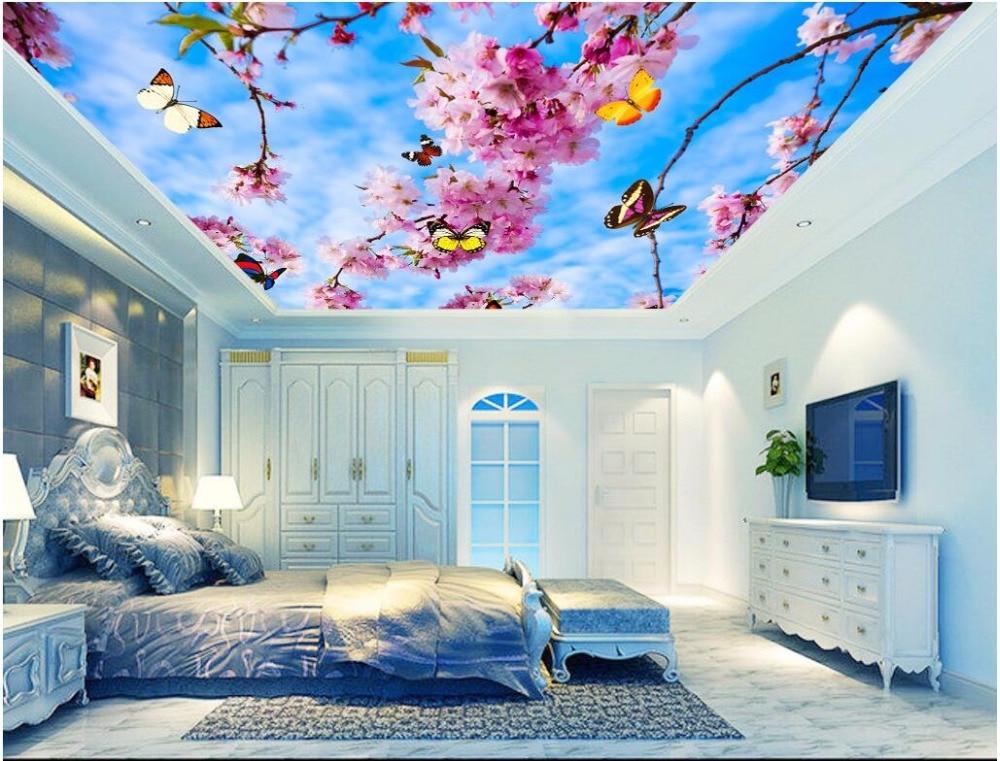 Custom Photo 3d Ceiling Murals Wall Paper Beautiful