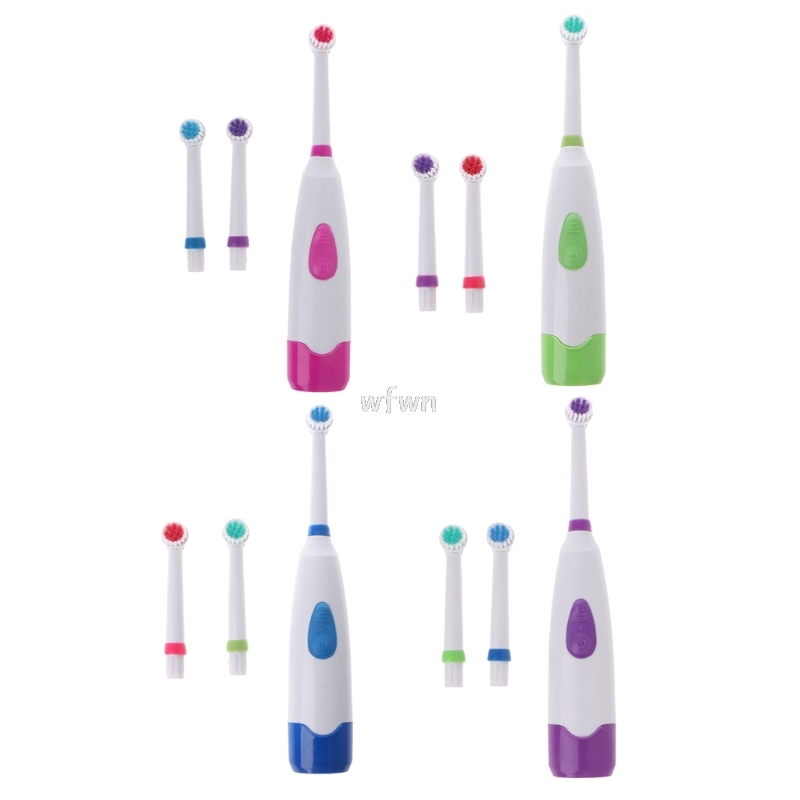 Waterproof Rotating Electric Toothbrush With 3 Brush Head MAY10 Dropship