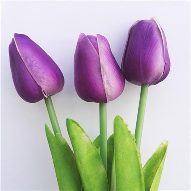 dark purple tulip bouquet fashion wedding flowers