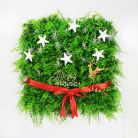 Joyeux Décorations De Noël Plante Verte Panneau Lumière Chaîne (avec batterie) blanc Étoiles Cerfs BRICOLAGE Conception Bowknot 1 pc 50x50/cm