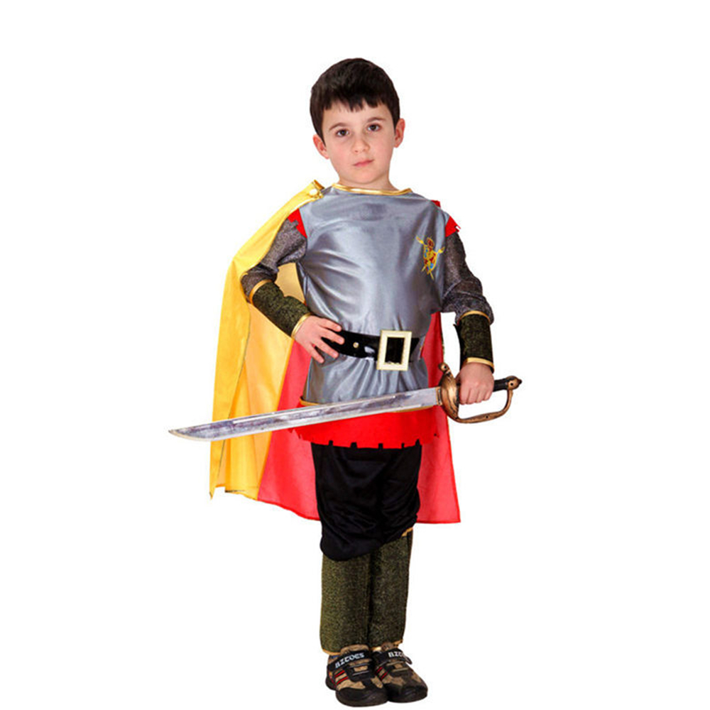 Free Shipping Boys Clothes Halloween Party Pirate Clothes for Kids Boys Knight Cosplay Costume Halloween Bullfighter Full Set kids boys pilot costume cosplay halloween set for children fantasia disfraces game uniforms boys military air force jumpsuit
