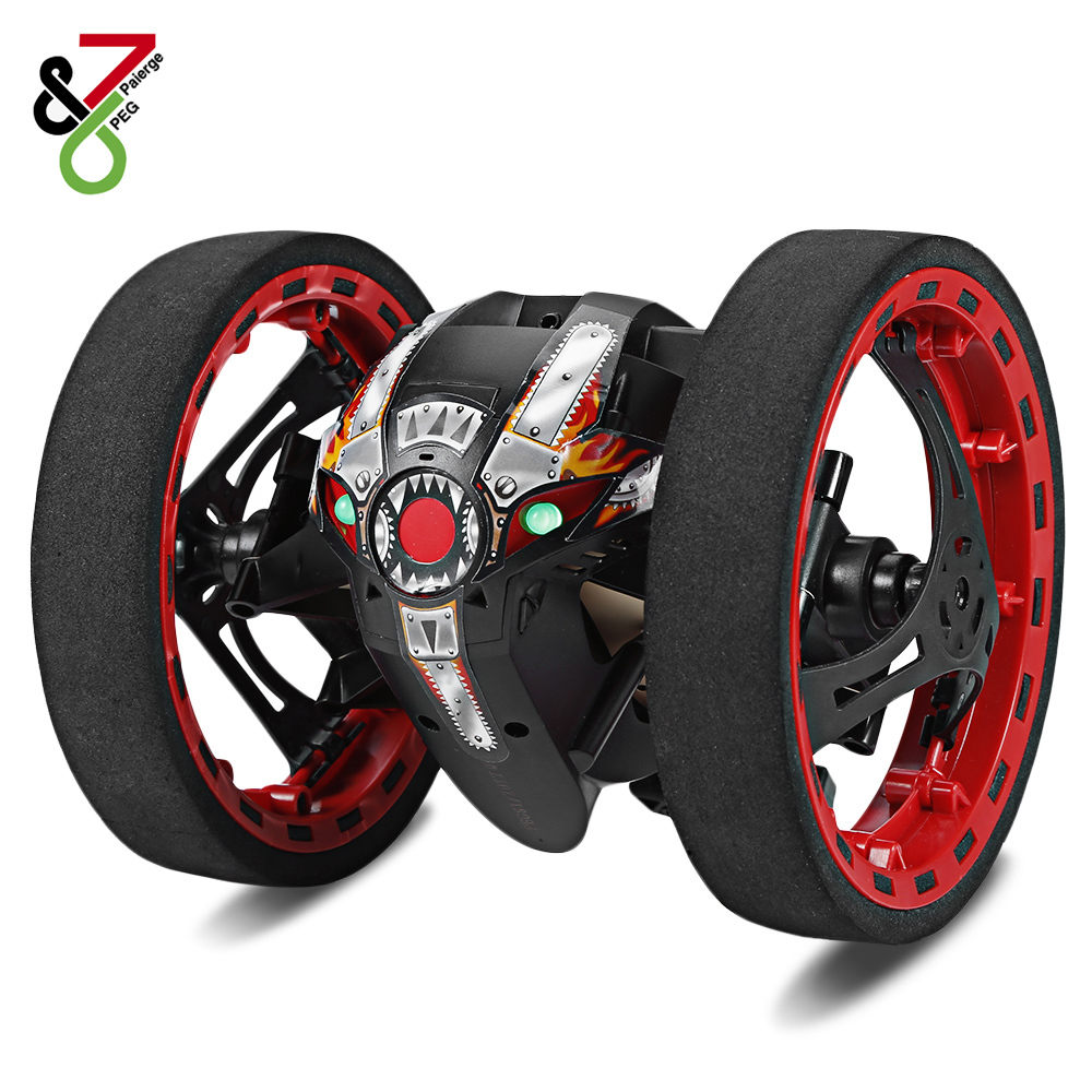RC Car Bounce Car PEG-81 2.4G Remote Control Toys Jumping Car with Flexible Wheels Rotation LED Night Light RC Robot Car Present цена 2017