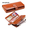 Fashion women wallets long zipper wallet purse women genuine leather wallet multi-color purses for women carteira masculina card