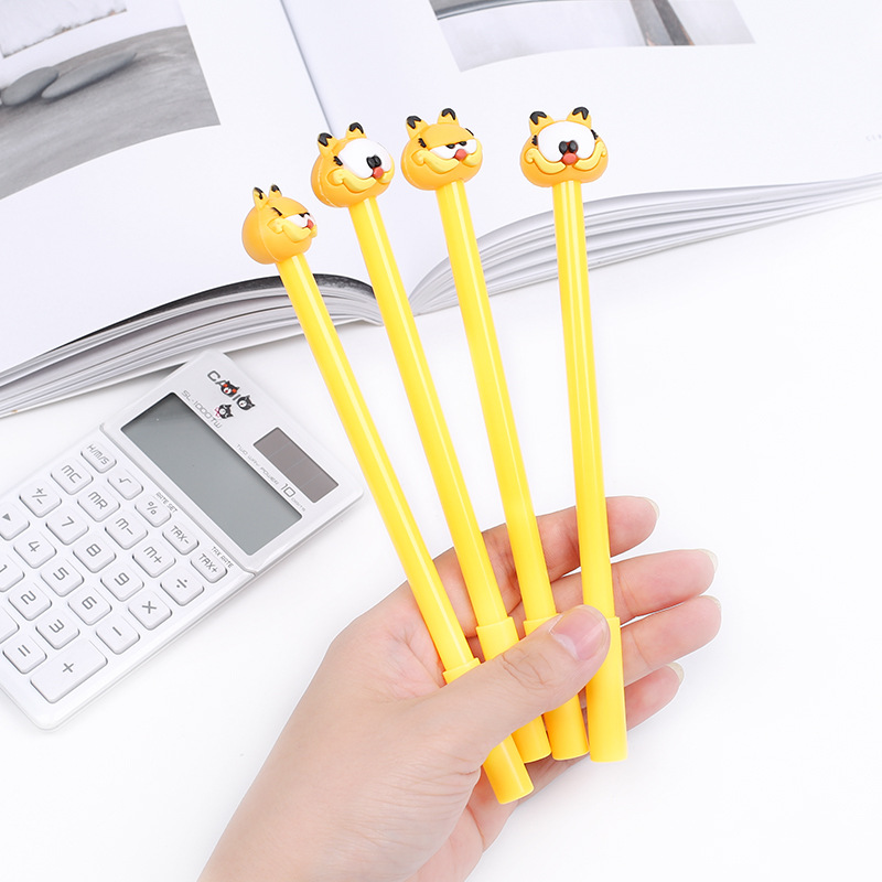 2 Pcs/lot 0.5mm Cute Cartoon 3D Little Fat Cat Garfield Gel Ink Pen Kawaii Stationery Office Learning Cute Pen for Kids Gift 5packs lot 10 colors new cute cartoon colored gel pen set kawaii stationery gift office