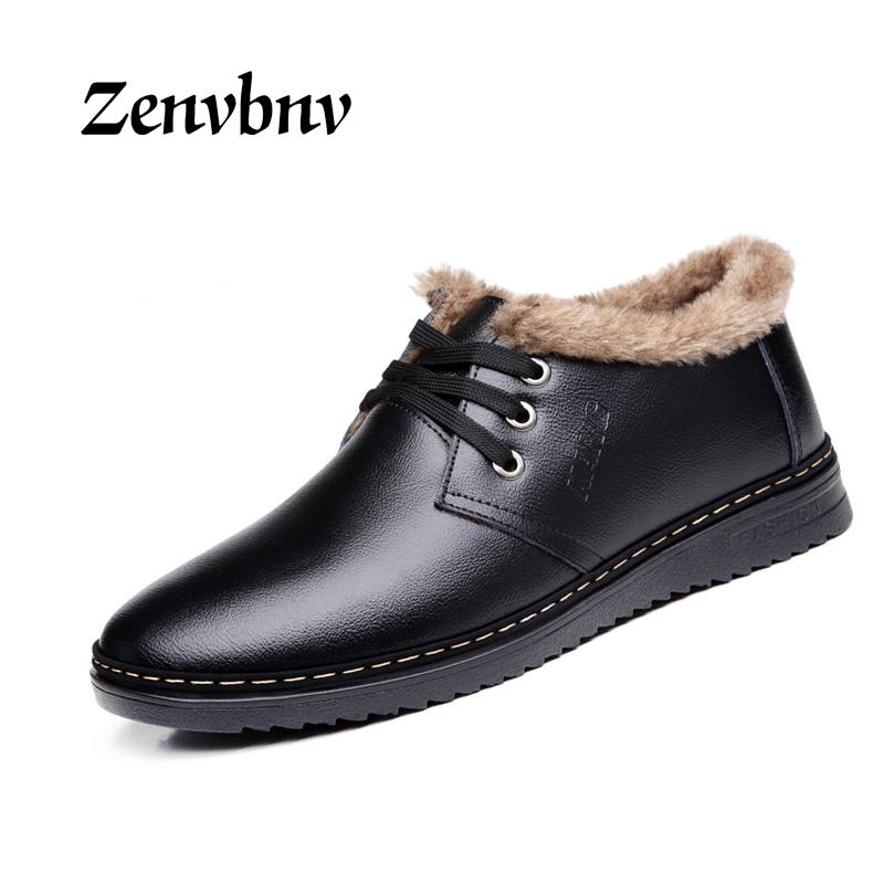 ZENVBNV 2017 winter mens leather loafers casual shoes men genuine leather moccasin warm natural rubber sole fashion 38~44 size brand fashion men shoes quality leather loafers eu size 38 44 soft rubber sole man casual driving shoes