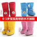 0-6-12 месяцев детские зима теплая обувь кружева для высокого водонепроницаемый утолщение