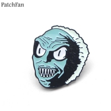 A0392 Patchfan cosplay Snake Head Enamel Brooch Pins for Sweater Badge Gift Jewelry Women Girl Kids Costume Gifts