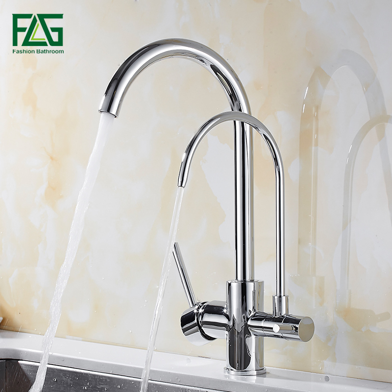 Kitchen Faucet Purified Water Purification Faucets Deck: FLG Filter Kitchen Faucet Deck Mounted Kitchen Mixer Sink