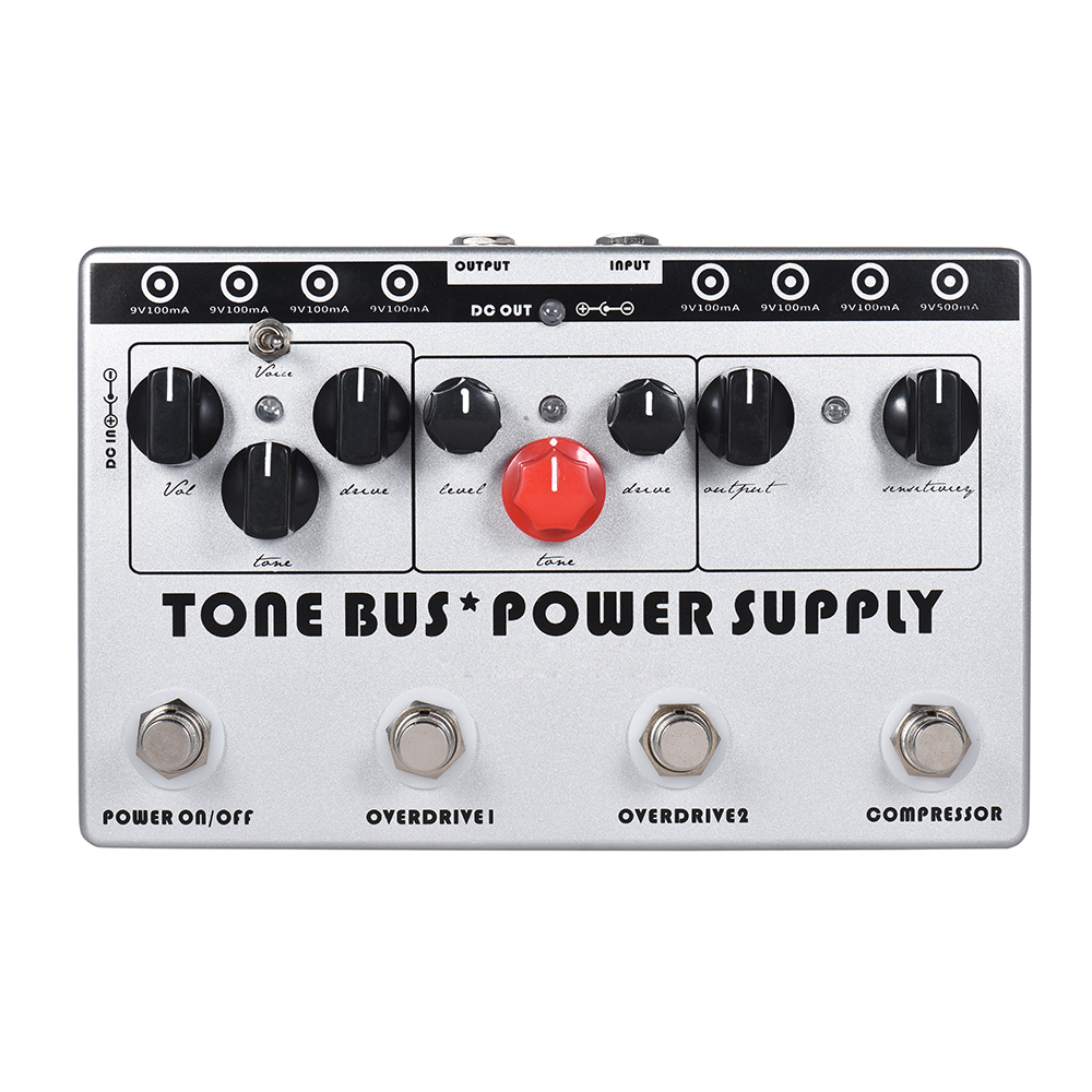 SOACH Tone Buse+Power Supply Guitar Effect Pedal Multi-Effect Pedal 3 Effects Pedal + 8 Outputs Power Supply in 1 Unit