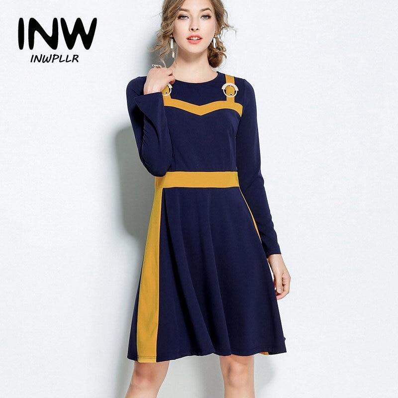 5xl large size dress women 2019 fashion autumn winter. Black Bedroom Furniture Sets. Home Design Ideas