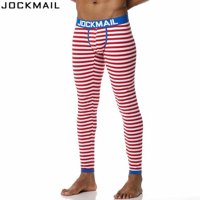 JOCKMAIL Brand Men Long Johns Cotton Printed leggings Thermal Underwear cueca Gay Men Thermo Underwear Long Johns Underpants