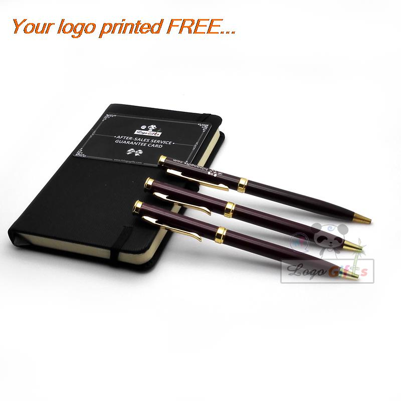 High Quality Silver And Golden Clip ballpoint pen Business & School Supplies Hot Writing Custom laser Print Logo