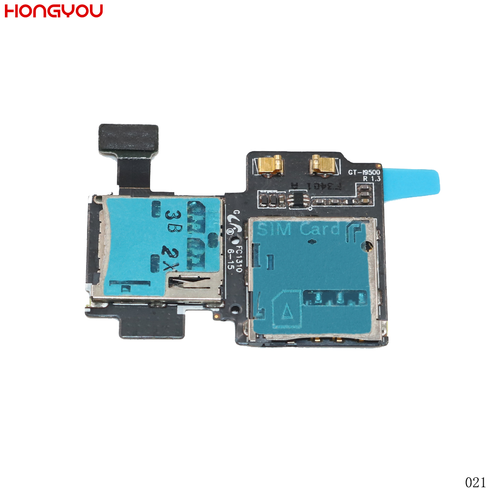 For Samsung Galaxy S4 S IV I9500 SIM Card Reader Connector Holder Slot Tray Memory Socket Flex Cable