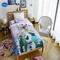 דיסני Elsa ואנה מכסה כותנה מצעי שמיכת שמיכות קיץ ילדים בנות עיצוב חדר השינה של ילד 150*200 ס