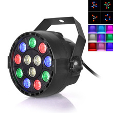Stage Light 12x3W Flat LED Par RGBW DMX512 Disco Lamp KTV Bar Backlight Laser Beam Projector Dmx Controller Spotlights