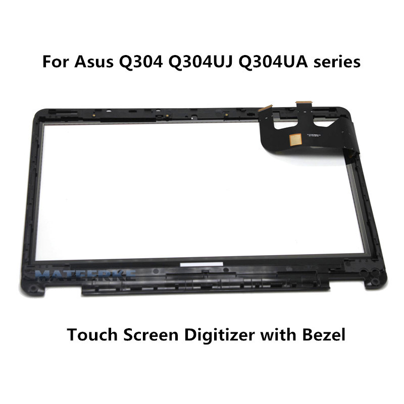 with Frame 13.3 Touch Front Panel Replacement For Asus Transformer Book Flip Q304 Q304U Q304UJ Q304UA Touch Digitizer free shipping car refitting dvd frame dvd panel dash kit fascia radio frame audio frame for 2012 kia k3 2din chinese ca1016