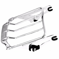 Detachable Chrome 2 Up Air Wing Luggage Rack For Harley 2009 2018 Road King Street Glide