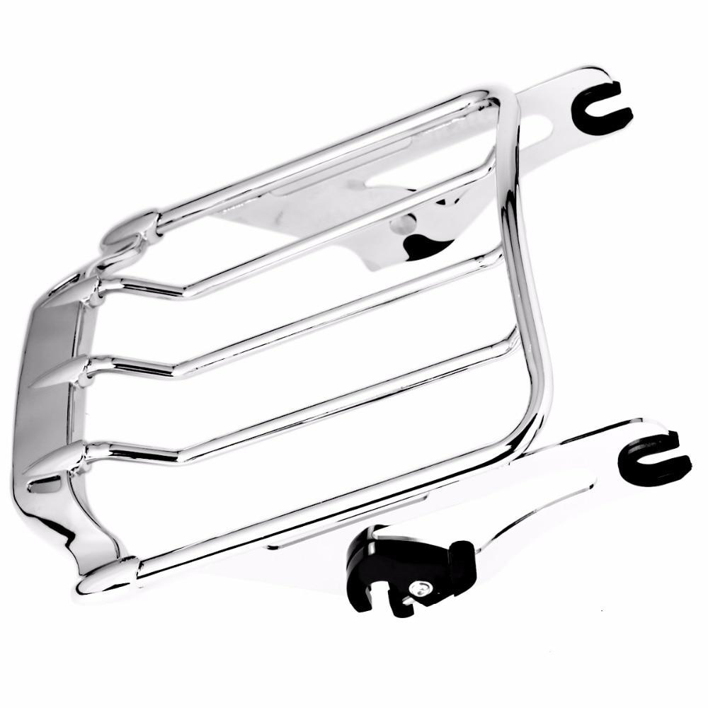 Съемная хромированная 2-воздух крыло багажник для Harley улица скользить FLHX FLHR-Роуд Кинг 2009-2018